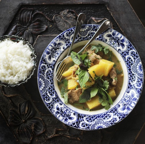 Thai Red Curry Pork With Pineapple And Ginger Hotly Spiced